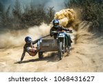 motocross motorbike with... | Shutterstock . vector #1068431627