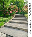 Cement Steps In The Park ...