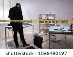 investigator collecting...   Shutterstock . vector #1068480197