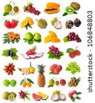 Large Page Of Fruits Isolated...