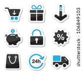 web   internet icons set  ... | Shutterstock .eps vector #106849103