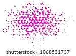 light pink vector abstract...   Shutterstock .eps vector #1068531737