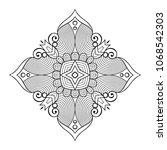 vector arabesque ornament | Shutterstock .eps vector #1068542303