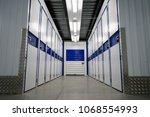 blue color storage cameras | Shutterstock . vector #1068554993
