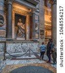 pantheon basilica  rome  italy...   Shutterstock . vector #1068556217