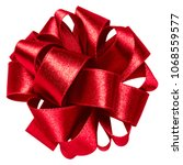 bid round bow in red color... | Shutterstock . vector #1068559577