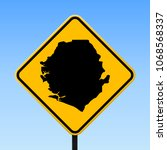 sierra leone map road sign.... | Shutterstock .eps vector #1068568337
