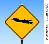 java map road sign. square... | Shutterstock .eps vector #1068568433