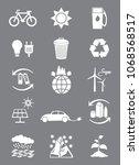 renewable energy icons. vector... | Shutterstock .eps vector #1068568517