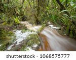 floodwater pouring through the... | Shutterstock . vector #1068575777