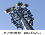 transmitter station on the top... | Shutterstock . vector #1068586433
