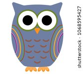 owl  bird  cute  colorful ... | Shutterstock .eps vector #1068595427