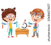 vector illustrations of kids... | Shutterstock .eps vector #1068607607
