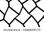 black and white irregular grid  ... | Shutterstock .eps vector #1068609173