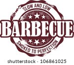 Vintage Barbecue Restaurant Menu Stamp - stock vector