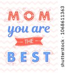 happy mothers day typography... | Shutterstock .eps vector #1068611363