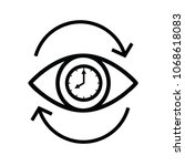 eye icon with clock sign. eye... | Shutterstock .eps vector #1068618083
