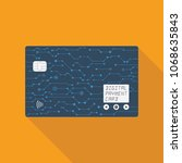 digital credit card  all in one ... | Shutterstock .eps vector #1068635843
