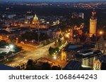 leipzig at night saxony germany ... | Shutterstock . vector #1068644243