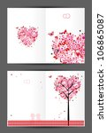 wedding postcard  cover and... | Shutterstock .eps vector #106865087