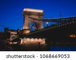 night view of a famous budapest ... | Shutterstock . vector #1068669053