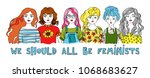 we should all be feminists.... | Shutterstock .eps vector #1068683627