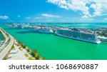 usa. florida. miami beach.... | Shutterstock . vector #1068690887