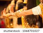 beautiful hands of apsara khmer ... | Shutterstock . vector #1068701027