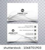 abstract business card elegant... | Shutterstock .eps vector #1068701903