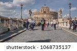 castel sant angelo  rome  ...   Shutterstock . vector #1068735137