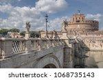 castel sant angelo  rome  ...   Shutterstock . vector #1068735143