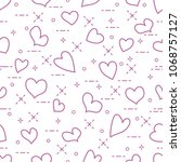 cute seamless pattern with...   Shutterstock .eps vector #1068757127