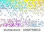 light multicolor  rainbow... | Shutterstock .eps vector #1068758813