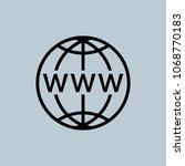 www icon. www flat icon vector... | Shutterstock .eps vector #1068770183