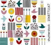 folk art pattern in... | Shutterstock .eps vector #1068771167