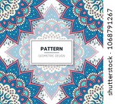 ethnic floral seamless pattern... | Shutterstock .eps vector #1068791267
