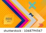 vector abstract background... | Shutterstock .eps vector #1068794567