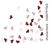 red hearts confetti background. ...   Shutterstock .eps vector #1068797963