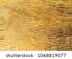 the golden texture with unique... | Shutterstock . vector #1068819077