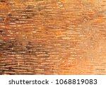 the golden texture with unique... | Shutterstock . vector #1068819083