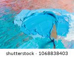 oil colors with knife on art... | Shutterstock . vector #1068838403