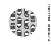 traffic jam icon. grayscale...   Shutterstock .eps vector #1068843587