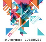 triangle overlap composition... | Shutterstock .eps vector #106885283