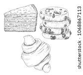 sketch ink graphic bakery ... | Shutterstock .eps vector #1068867113
