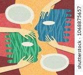 illustration about psychology ... | Shutterstock . vector #1068875657