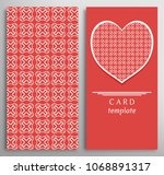 set of decorative cards with...   Shutterstock .eps vector #1068891317