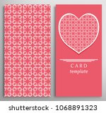 set of decorative cards with...   Shutterstock .eps vector #1068891323