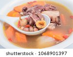chinese guangdong soup   fig...   Shutterstock . vector #1068901397