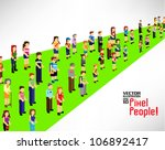 a large group of people walking ... | Shutterstock .eps vector #106892417