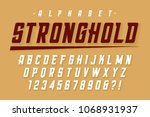 vector condensed strong display ... | Shutterstock .eps vector #1068931937